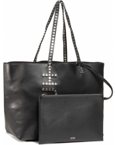 Czarny torba na zakupy Hugo