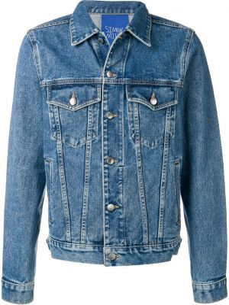 Klasyczne niebieskie jeansy bawełniane Simon Miller
