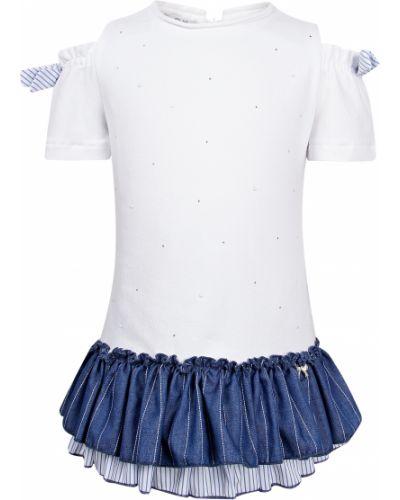 Хлопковое белое платье Elsy