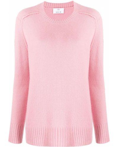 Джемпер с вырезом - розовый Allude