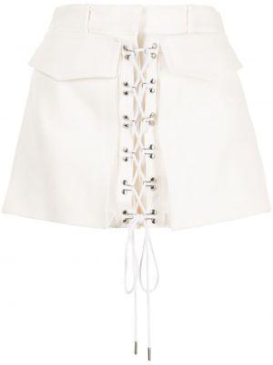 Хлопковые белые шорты с карманами Dion Lee