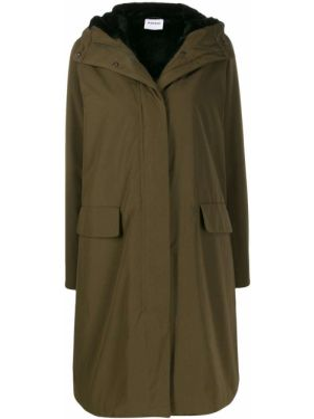 Прямая шерстяная длинное пальто айвори Aspesi
