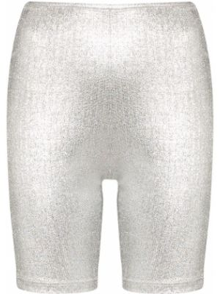 Облегающие спортивные шорты металлические Paco Rabanne