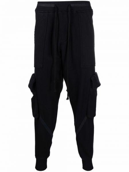 Черные флисовые брюки Greg Lauren