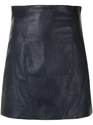 С завышенной талией синяя юбка мини на молнии Manning Cartell