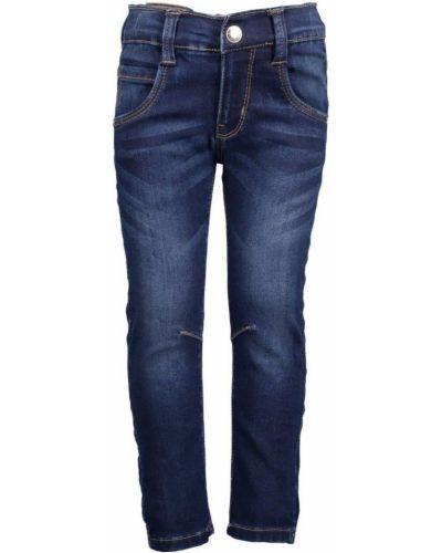 Spodnie na gumce szary niebieski Blue Seven