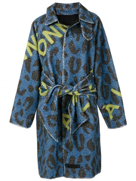Синее пальто классическое оверсайз на кнопках à La Garçonne