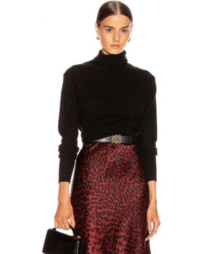 Кашемировый черный свитер милитари Nili Lotan