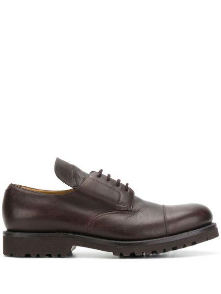 Кожаные коричневые туфли на шнуровке на шнуровке Holland & Holland