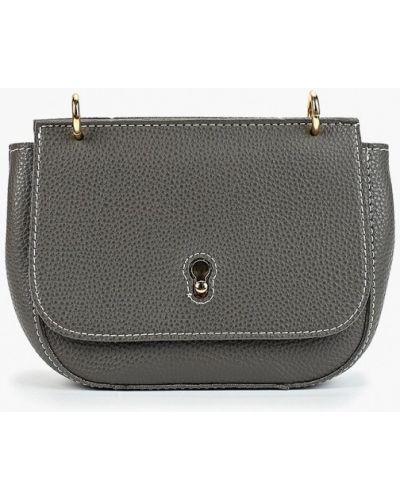 Кожаная сумка через плечо серая Trendy Bags