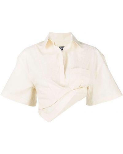 Bawełna z rękawami koszula z kołnierzem Jacquemus