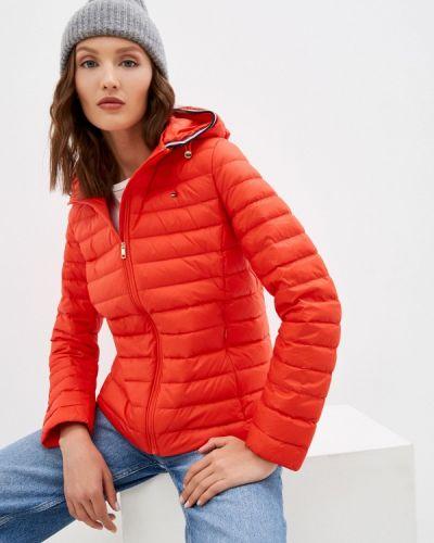 Красная зимняя куртка Tommy Hilfiger
