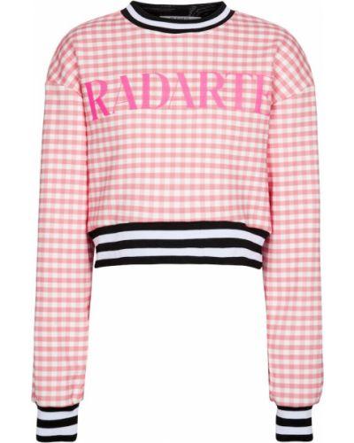 Ватный розовый хлопковый свитшот Rodarte