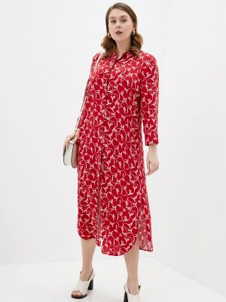 Повседневное платье красный весеннее Persona By Marina Rinaldi