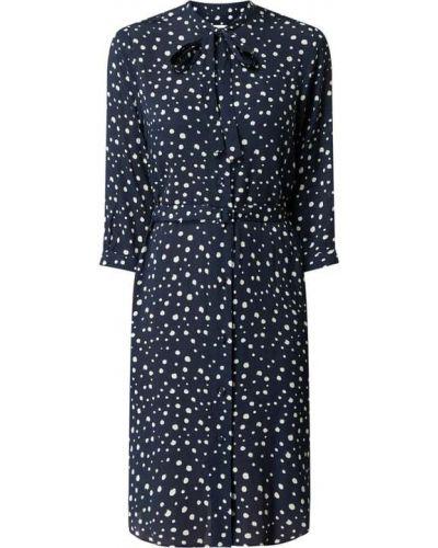 Niebieska sukienka rozkloszowana z wiskozy Seidensticker