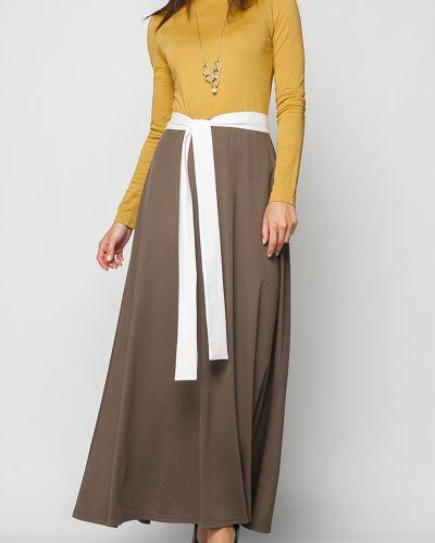 Платье макси с поясом расклешенное Lacywear