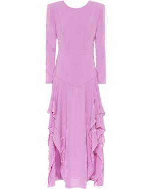 Платье миди фиолетовый стрейч Stella Mccartney