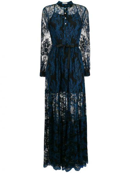 Платье макси с кружевными рукавами с длинными рукавами Three Floor