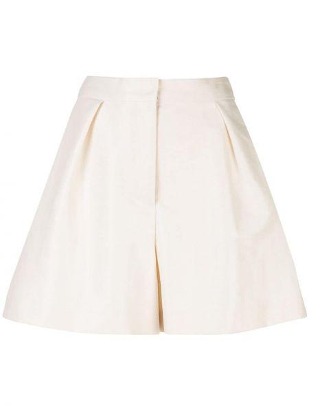 Хлопковые белые шорты свободного кроя Carolina Herrera