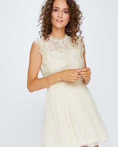 Бежевое платье мини Answear