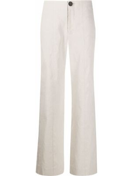Spodnie z wysokim stanem z kieszeniami zapinane na guziki Vince