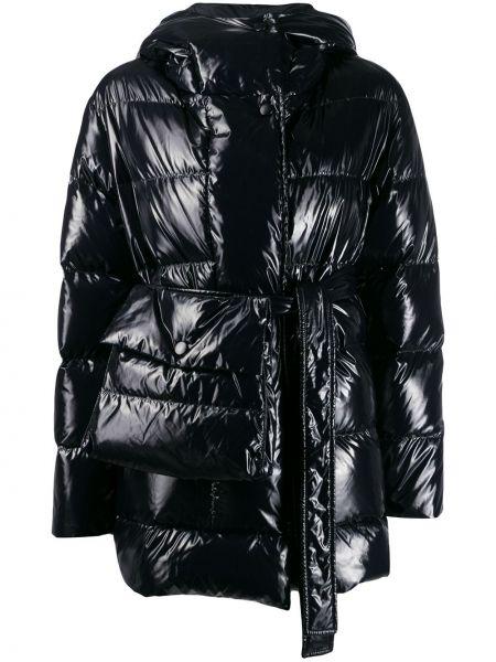 Куртка с капюшоном черная длинная Bacon