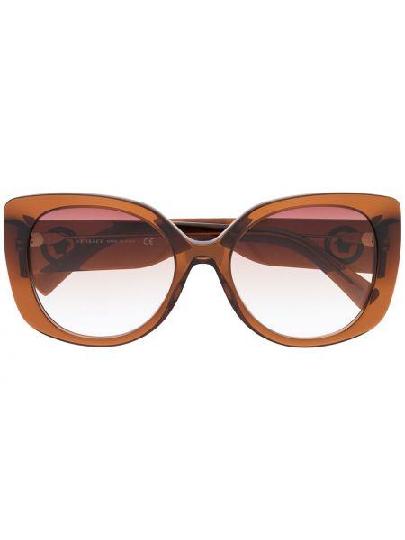 Солнцезащитные очки хаки оверсайз Versace Eyewear