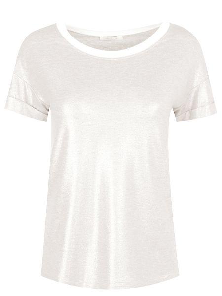 Серебряная футбольная свободная футболка со стразами Panicale