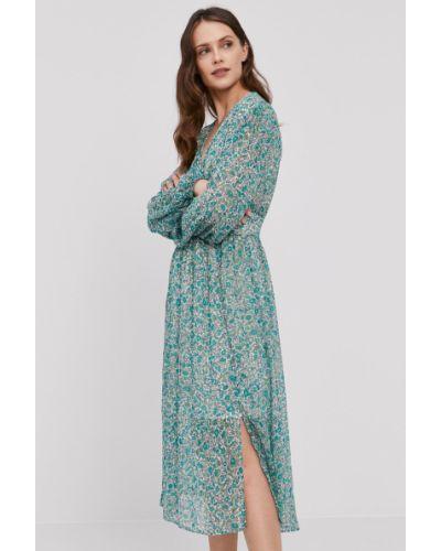 Sukienka jeansowa rozkloszowana z długimi rękawami Pepe Jeans