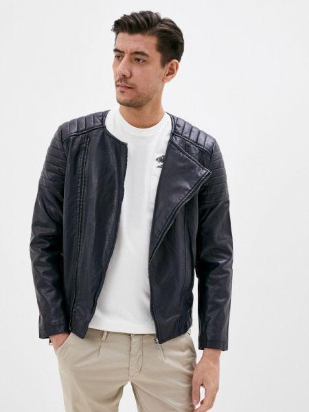 Кожаная синяя кожаная куртка Jackets Industry