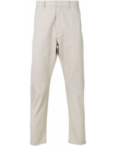 Приталенные бежевые классические брюки Pence