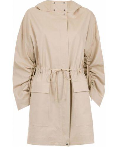Бежевое длинное пальто Gloria Coelho