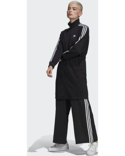 Черная олимпийка с поясом на шнурках Adidas