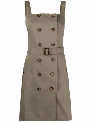 Sukienka mini bawełniana - zielona 12 Storeez