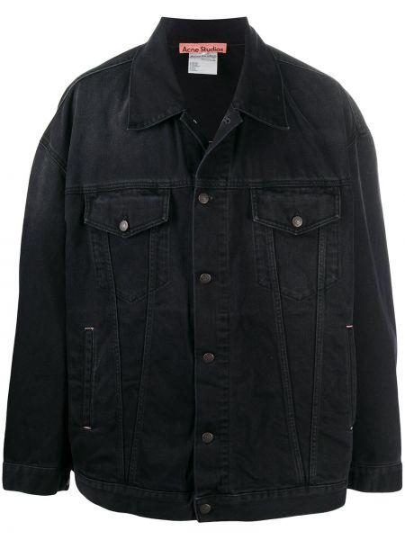 Bawełna czarny klasyczny jeansy z kieszeniami z kołnierzem Acne Studios