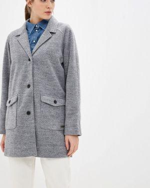 Серое пальто с капюшоном Roxy
