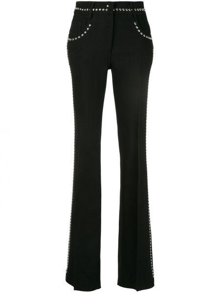 Расклешенные хлопковые черные брюки Giambattista Valli