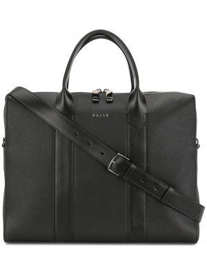 Черная кожаная сумка на руку на молнии Bally
