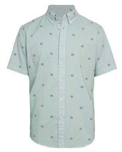 Koszula krótki rękaw bawełniana z printem Rag & Bone