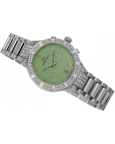 Klasyczny zielony zegarek srebrny Bisset