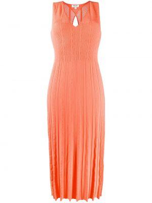 Трикотажное платье миди - оранжевое Kenzo