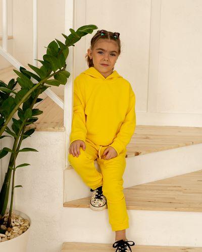 Свободный желтый трикотажный спортивный костюм Waukeen