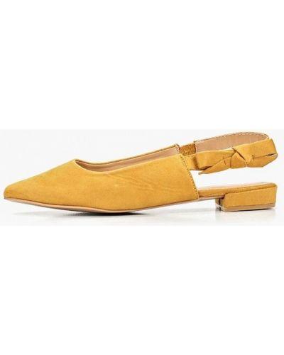 Туфли на каблуке с открытой пяткой велюровые Damerose