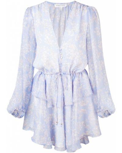 Платье мини с баской на пуговицах Shona Joy