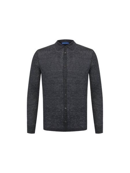 Льняная рубашка - серая Andrea Campagna