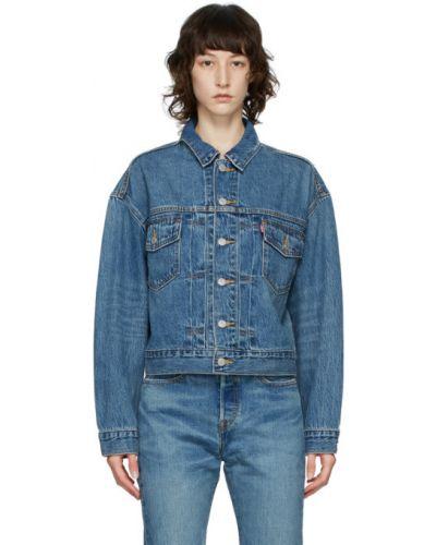 Синяя джинсовая куртка с воротником с карманами Levi's®