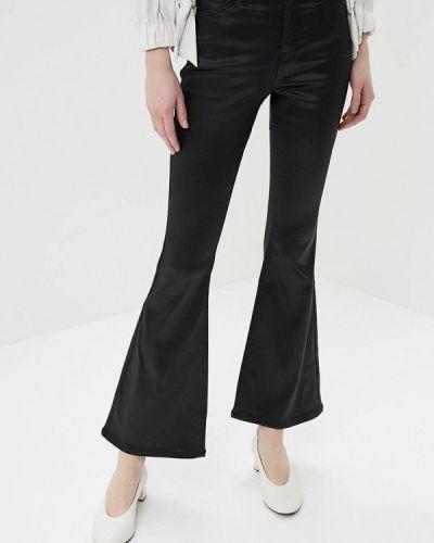 Черные расклешенные брюки Topshop