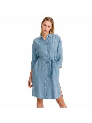 Niebieska sukienka długa Lee