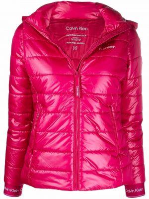 Розовая куртка с принтом Calvin Klein