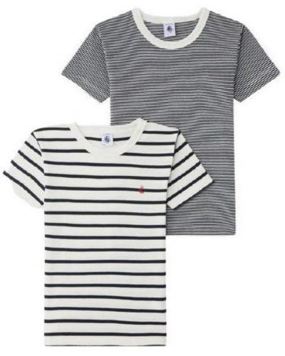 Szary t-shirt Petit Bateau
